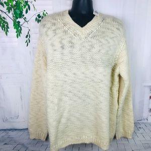 NWD Gap Wool Chunky Knit Ivory Sweater ~ Sx XL